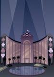 Hotell och kasino vektor illustrationer