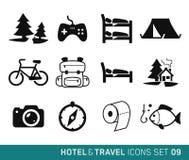 Hotell och lopp stock illustrationer