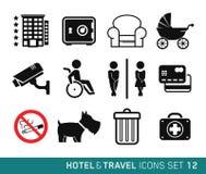 Hotell och lopp vektor illustrationer
