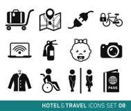 Hotell och lopp royaltyfri illustrationer