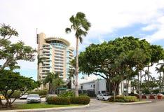 Hotell och marina för pir 66 Arkivbild