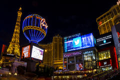 Hotell Paris i Vegas Arkivfoton