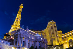 Hotell Paris i Vegas Royaltyfri Foto