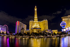 Hotell Paris i Vegas Arkivfoto