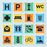 Hotell pictograms_4-03 Royalty Free Stock Photos