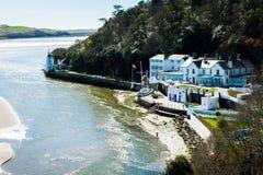 Hotell Portmeirion på floden Afon Dwyryd Arkivbild