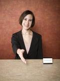 Hotell - receptionist Arkivbilder