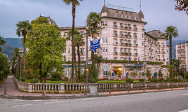 Hotell Regina Palace, Stresa, Italien Royaltyfri Bild