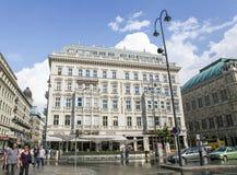 Hotell Sacher i Wien, Österrike Royaltyfria Bilder