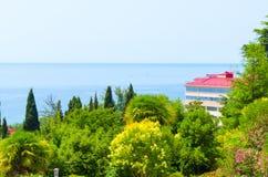 Hotell vid havet Royaltyfria Bilder