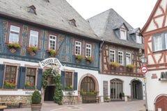 Hotell Zum Krug, Eltville, Tyskland Arkivbild