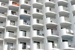 Hotellbalkonger Arkivfoto