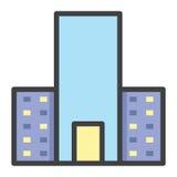 Hotellbyggnad royaltyfri illustrationer
