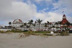 Hotelldel Coronado i Kalifornien royaltyfria bilder