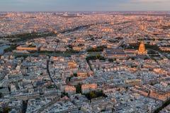 Hotelldes Invalides Paris Frankrike Arkivfoto
