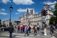 Hotellet de Ville, Paris, Frankrike. Royaltyfria Bilder