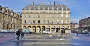 Hotellet du Louvre i Paris Arkivfoton