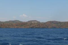 Hotellet lokaliseras på det Aegean i Turkiet Royaltyfri Bild