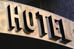 Hotellet undertecknar arkivbilder