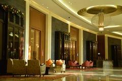 Hotellhändelsekorridor Arkivfoto