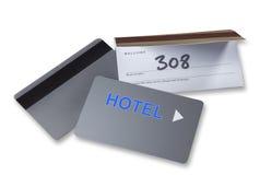 Hotellkeycards eller cardkeys som isoleras Arkivbild