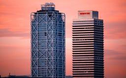 Hotellkonster Barcelona fotografering för bildbyråer