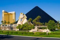 hotelllaspyramid vegas Royaltyfri Bild