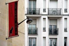 HotellLe-pratstund som är noir i Paris Arkivbild