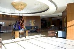 Hotelllobby av Seattle Marriott strand Arkivbild