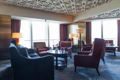 Hotelllobbyen Fotografering för Bildbyråer