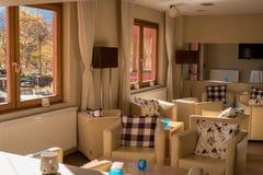 Hotelllobbyinre Arkivfoton