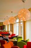 Hotelllobbyplatser fotografering för bildbyråer