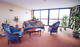 hotelllobbysofas Royaltyfri Fotografi