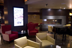 Hotelllobbystång royaltyfri fotografi