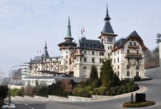 hotelllyx switzerland Royaltyfria Foton