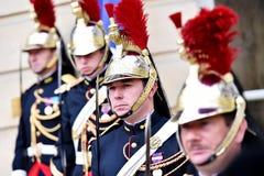 HotellMatignon republikanska vakter av heder Royaltyfria Foton