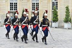 HotellMatignon republikanska vakter av heder Arkivfoto
