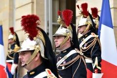HotellMatignon republikanska vakter av heder Royaltyfri Bild