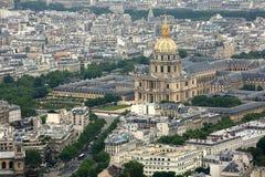 Hotellmedborgaredes Invalides i Paris Royaltyfri Foto