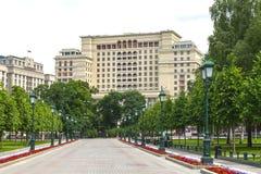 HotellMoskva för fyra säsonger, 2, Okhotny Ryad, Moskva, Ryssland Juni 02, 2016 Arkivbild