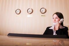 hotellmottagande Arkivfoto