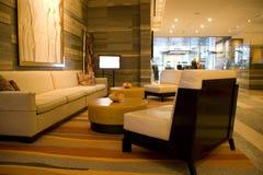 Hotellobby stockfoto