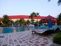 Hotellområde i Cambodja Arkivbild
