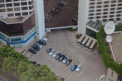 Hotellparkering Arkivfoto