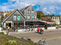 Hotellrestaurang i öst-Vlieland, Holland Arkivfoton