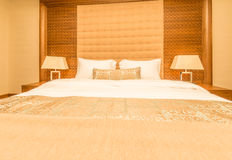 Hotellrum med den moderna inre Arkivfoto