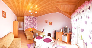 hotellrumviolet Royaltyfria Bilder