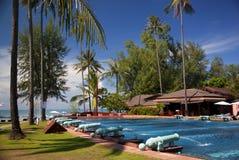 Hotellsemesterort i Thailand Arkivbilder