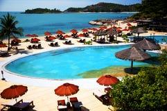 Hotellsemesterort i Thailand Royaltyfria Foton