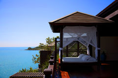Hotellsemesterort i Thailand Arkivbild